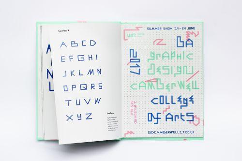 BA Graphic Design exhibition typography by Ella Veale.