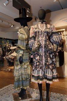 Two dresses with Liberty prints by designer Daniel Pascal Tanner