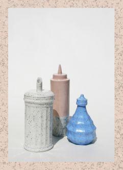 Ceramics by Chloe Greenfield.