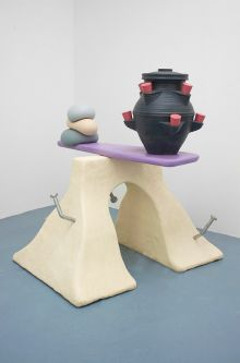 Sculpture playing with material qualities that takes it inspiration from cartoons and kids toys by Chris Campbell-Palmer