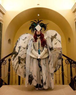 Fantasy bird costume.
