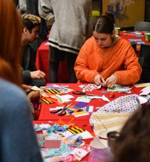 Sanitary Pad Making Workshop run by Post-Grad Community
