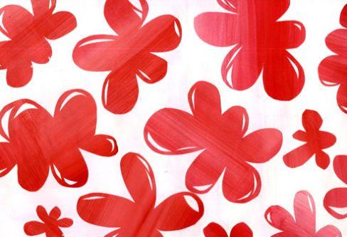 Red print pattern