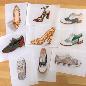 Crystal's work: Footwear illustrations