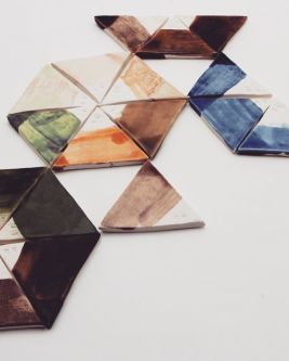 Triangular tiling with different colours