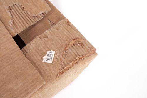 close up of cardboard box artefact