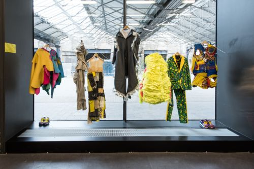 Garments from the CSM Foundation Fashion and Textiles x Minions