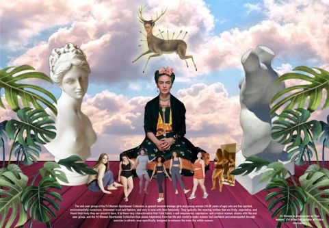 Keren's submission showing frida Kahlo collage.