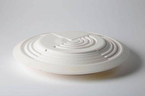 A white ceramic dish