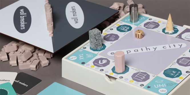 A pastel coloured board game.