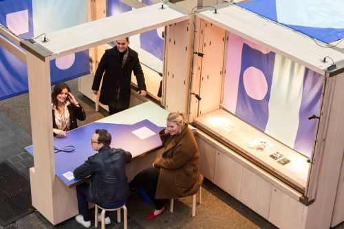 EMBA students explore the stands at Fashion Means Business