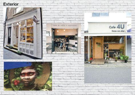 Felipe Blasca's cafe exterior moodboard.