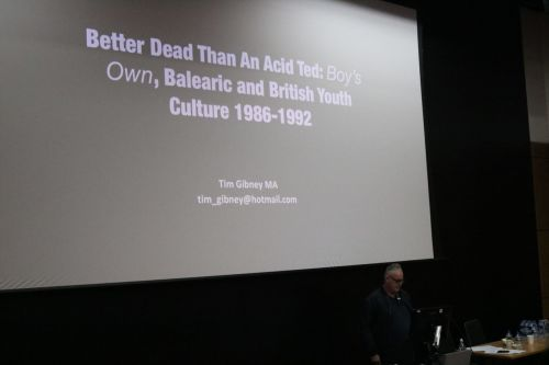 Tim Gibney presenting