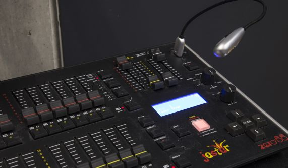 A lighting desk