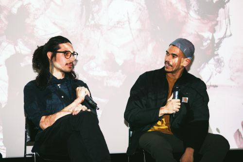 Two panelists in conversation