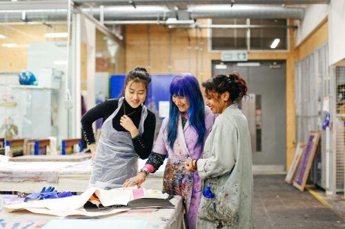 Textile Print by Mei Zhang, Natalie Gibson (Tutor) and Rita Kumari.