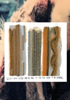 illustration detailing the layers of the faux fur stitch process