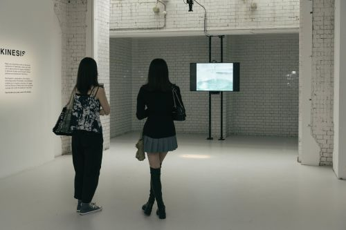 People watching screens
