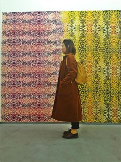 Yellow Snake Wallpaper, Jonas Ranson, 2012, photo courtesy of Virginia, Mari & Mila