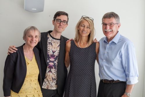 Nicola with tutors Marianne Martin, John Ayres and Jo Norman