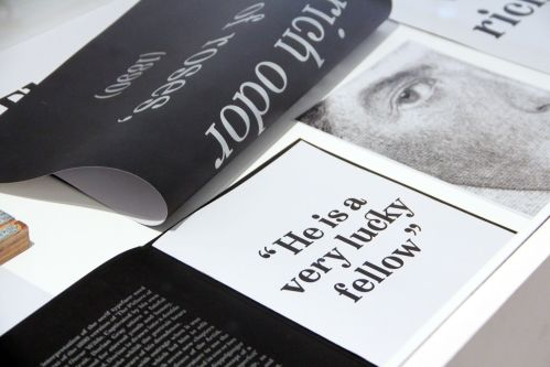 Poster, book and typography by Racheal Treliving.