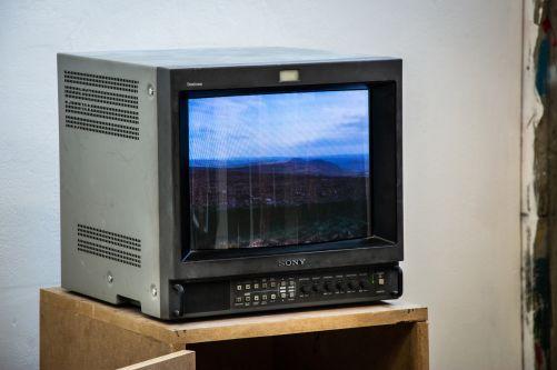 Television showing landscape