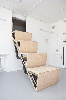 Escalator sculpture by Queenie Clarke.