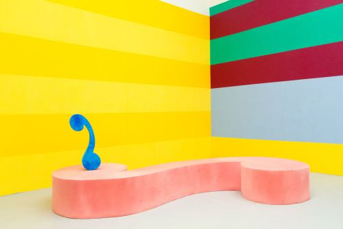Highly colourful sculpture installation by Francis Olvez-Wilshaw