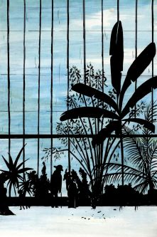 illustration of greenhouse at Kew Gardens by Elizabeth Lander.