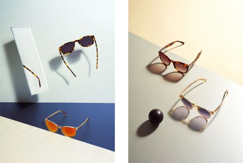 Art direction for photography of sunglasses brand by Oliver Jackson.