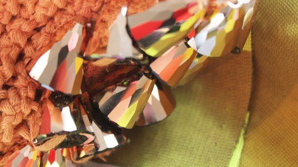 Close up of Millicent Sanders' textiles