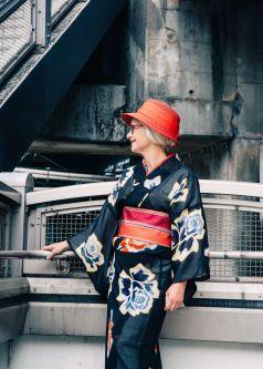 Sheila cliffe wearing a kimono