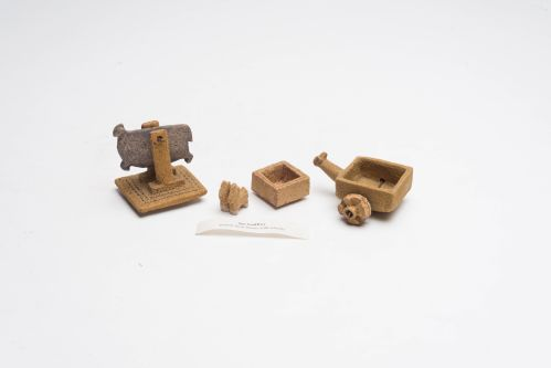 Ian Godfrey, animal form boxes with wheels. ILEA Collection.