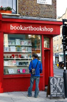 Photo of the exterior of the bookartbookshop
