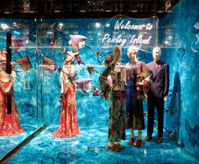 Fashion Visual Merchandising Visit to View Etro Windows
