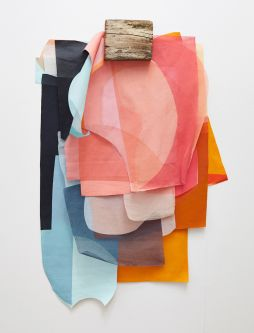 Coloured textile sculpture by Georgia Loveridge.