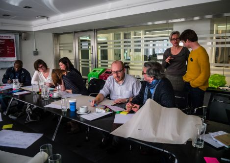 Creative Lenses Final Conference - Group of people discussing