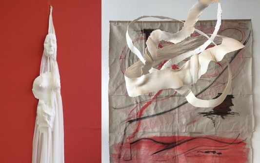 Abstract plaster sculpture