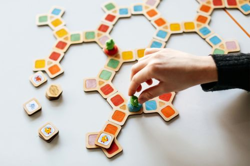 Student work featuring a wooden games design by Su Kizilagac, MA Games Design