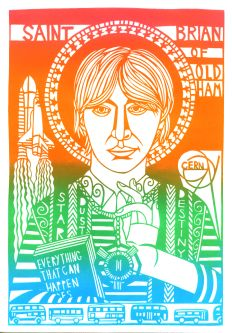 Illustration of Brian Cox by Freya Faulkner.