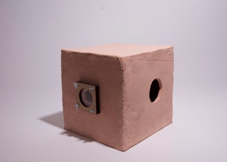 Clay camera sculpture by Sarah Lynch-Jones.