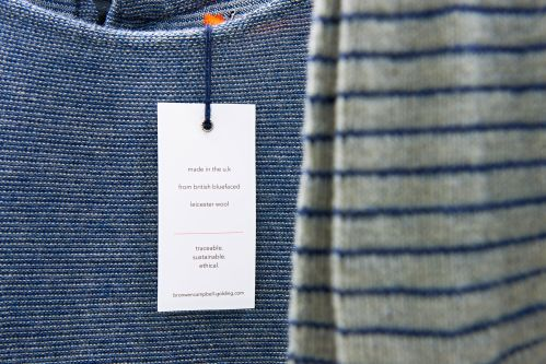 Garments from collection made with sustainable wool by Bronwen Campbell-Goldin.