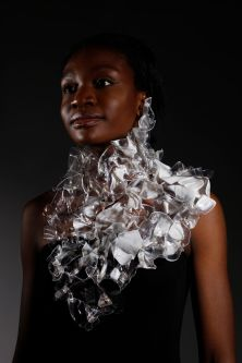 A model wearing Niamh O'Sullivan's Glacier necklace