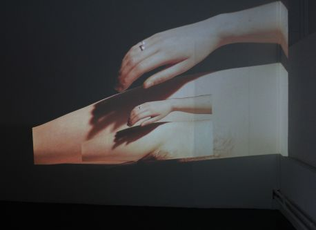 Video work showing female body by Sasha Webb.