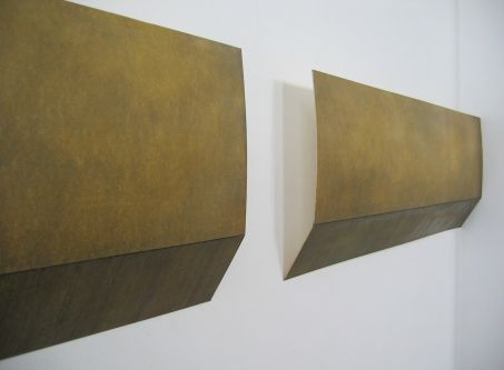 Minimal wall mounted sculptural work by Anna Morris.