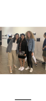 Group of girls in an exhibition