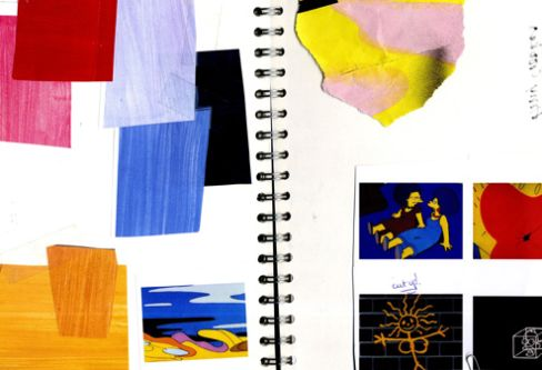 Sketchbook of swatches