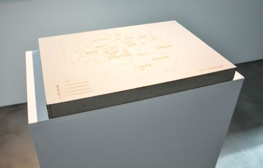 A map of london on a plinth