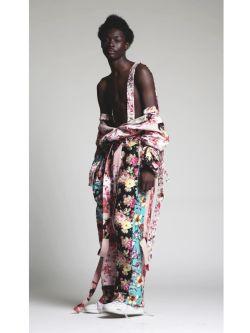 Model wearing designs by Julio Barga