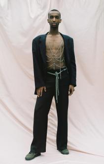 Model in suit